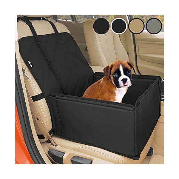 51RjwnF2ygS Extra Stabiler Hunde Autositz - Hochwertiger Auto Hundesitz für kleine bis mittlere Hunde - Verstärkte Wände und 3 Gurte…