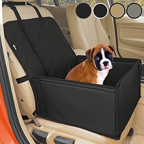 Extra Stabiler Hunde Autositz – Hochwertiger Auto Hundesitz für kleine bis mittlere Hunde – Verstärkte Wände und 3 Gurte…