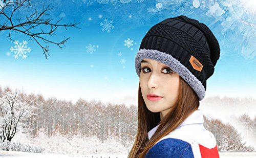 069bea7098d HINDAWI Winter Slouchy Beanie Gloves for Women Knit Hats Skull Caps Touch  Screen
