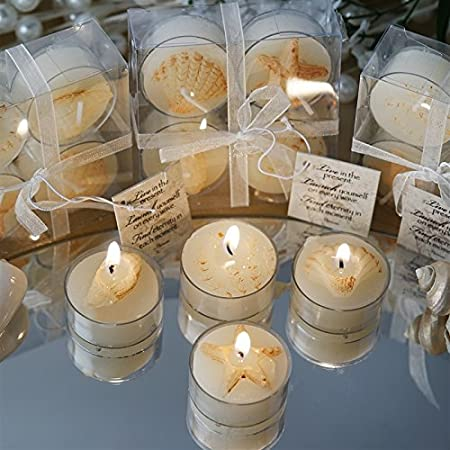 Caribbean Island Beach Candles Favors Wholesale 100 Candles Total