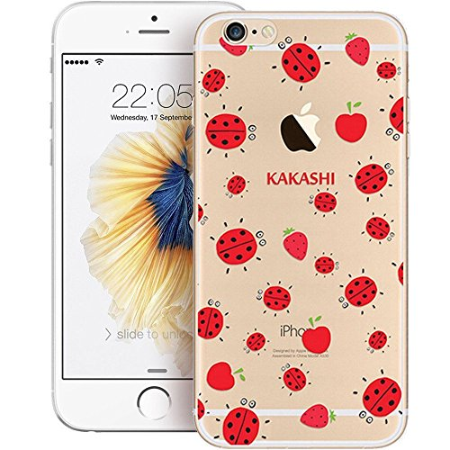 iPhone 6S Funda Silicona, BoomTeck Trasparente Protector Bumper Carcasa para 4.7 Apple iPhone 6 /iPhone 6S Delgado Sottile Goma Cristal Clear TPU Gel Cubierta Shock-Absorción Flessibile Patrón de art 12