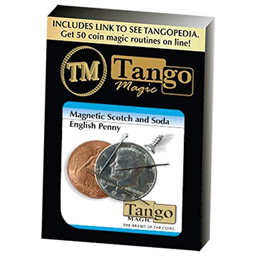 - Magnetic Scotch and Soda English Penny By Tango by Tango Magic