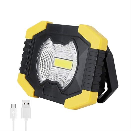Foco LED Recargable 10w Cob Led Solar Portátil Spotlight 1000lm ...