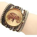 Shensee New Simple Velvet Diamond Bracelet Watch Ladies Watches High Elephant Pattern Black