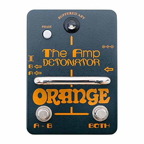 Amp Switcher Guitar Pedal (Orange Amp Detonator Buffered ABY Switcher Guitar Effects Pedal)