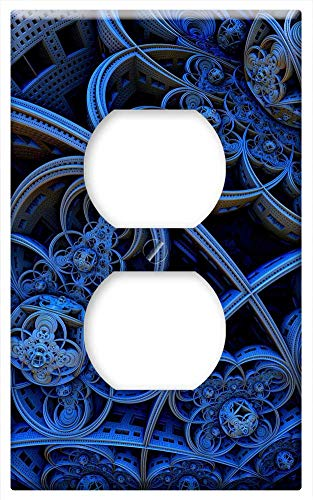 Switch Plate Outlet Cover - Circle Curve 3D Form Shape Art Abstract Design (Circle Switch Plate)
