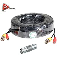 Acelevel 100 Feet Video and Power Cable for CCTV Security Cameras for Q-See Cameras