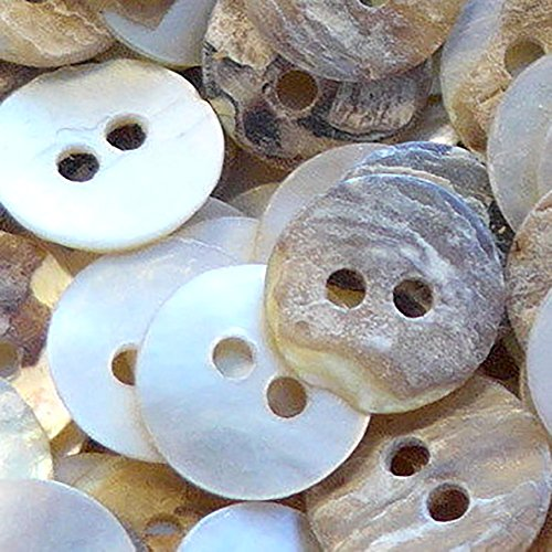 Fancy & Decorative {8mm w/ 2 Holes} 100 Bulk Pack of Small Size Round