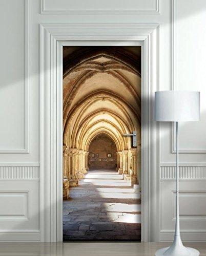 Wall Door STICKER Hogwarts corridor, Harry Potter, hall, , mural, decole, film 30x79'' (77x200 Cm) by Pulaton