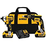 DEWALT DCK262M2 4.0AH 20-volt MAX XR Li-Ion ScrewGun and Impact Combo Kit For Sale