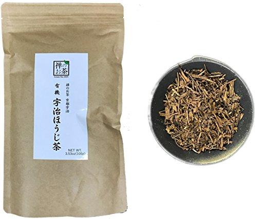 Zen no Ocha Hojicha tea - Japanese loose leaf Organic Green tea 3.53oz 100g (Made in Kyoto Uji Japan) ()