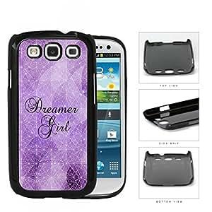 Dreamer Girl Geometric Triangles Purple Nebula Samsung Galaxy S3 I9300 Hard Snap on Plastic Cell Phone Cover