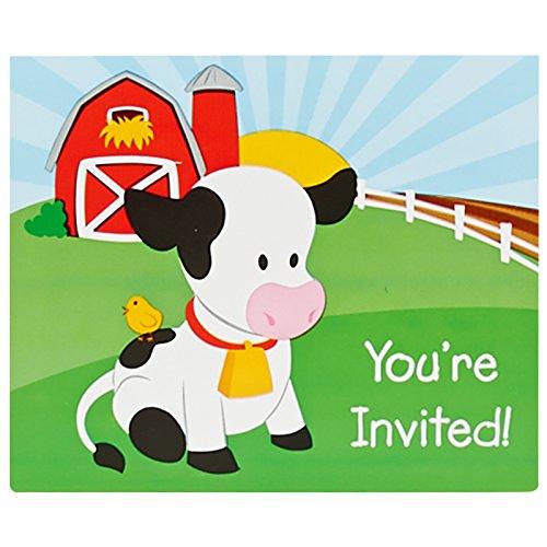 Farm Invitation - Farm Animal Party Supplies - Invitations (8)