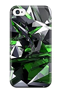 Flexible Tpu Back Case Cover For Iphone 4/4s - Digital Art
