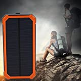 UNAKIM--Waterproof 300000mAh Portable Solar Panel Charger Dual USB Battery Power Bank X