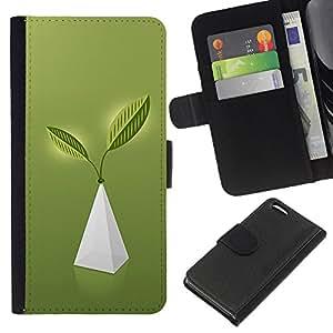 Planetar® Modelo colorido cuero carpeta tirón caso cubierta piel Holster Funda protección Para Apple iPhone 5C ( Pyramid Of Life )