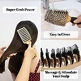 Boar Hair Brushes 2 Pack, Suitable for Men, Women
