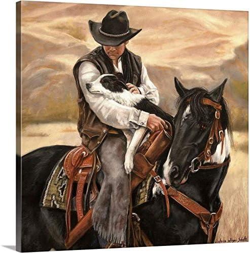 All a Cowboy Needs Canvas Wall Art Print
