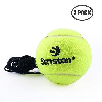 Senston Pelotas de Tenis 2pcs Amarillas de Práctica al Aire Libre ...