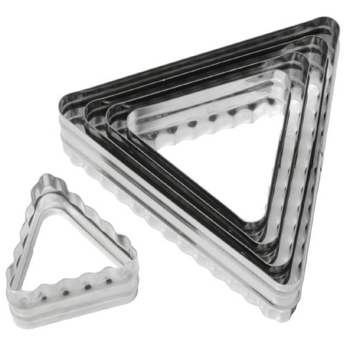 Six Piece Triangle Cutter - Ateco 6-Piece Double Sided Triangle Cutter Set by Ateco