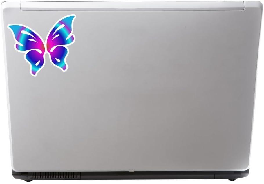 2/x Belle papillon Sticker en vinyle pour ordinateur portable Voyage Bagage Voiture Panneau iPad Fun # 6268-10cm//100mm Wide