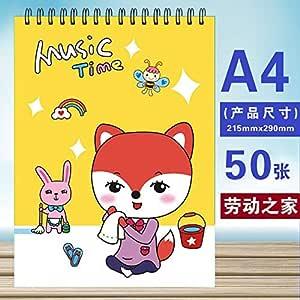 A4 50 hojas Dibujo Cuaderno de bocetos Cuaderno Espiral