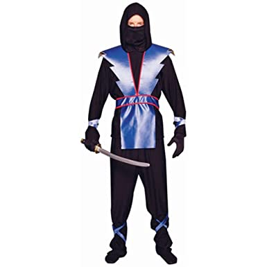 Adult Menu0027s Blue Ninja Halloween Costume (Size Standard ...  sc 1 st  Amazon.com & Amazon.com: Adult Menu0027s Blue Ninja Halloween Costume (Size: Standard ...