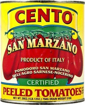 San Marzano Certified Cento Italian Peeled Tomatoes, Case of 4 /28 oz (Solania San Marzano Tomatoes compare prices)