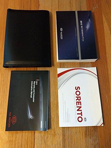 2013 Kia Sorento Owner's Manual With Black Leather Case