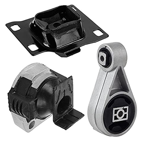PartsSquare A2939 A2986 A5312 Transmission Engine Motor Mounts Replacement Set 3Pcs For 05 06 07 Ford Focus 2.0L - Ford Focus Engine Mount