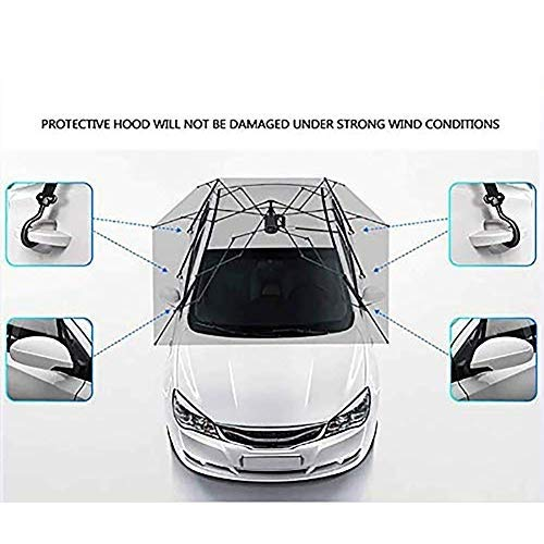 EGECL Sedan Car Cover - Waterproof Dust Sun UV Car Umbrella Sun Awning - Four-Season Car Awning Roof Cover - Universal - 450X230cm by EGECL (Image #3)