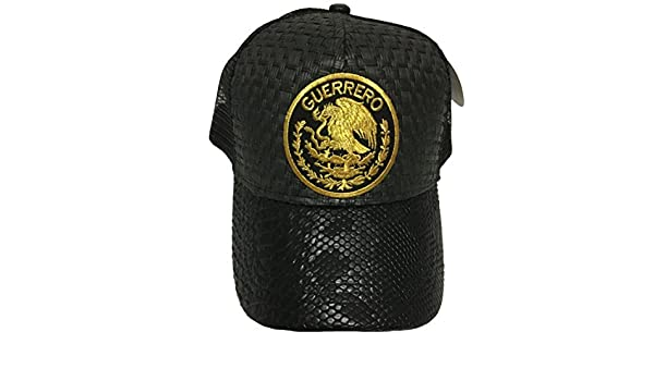 Guerrero Logo Federal hat Gorra De Palma Visera De Piel Mesh Snapback at Amazon Mens Clothing store: