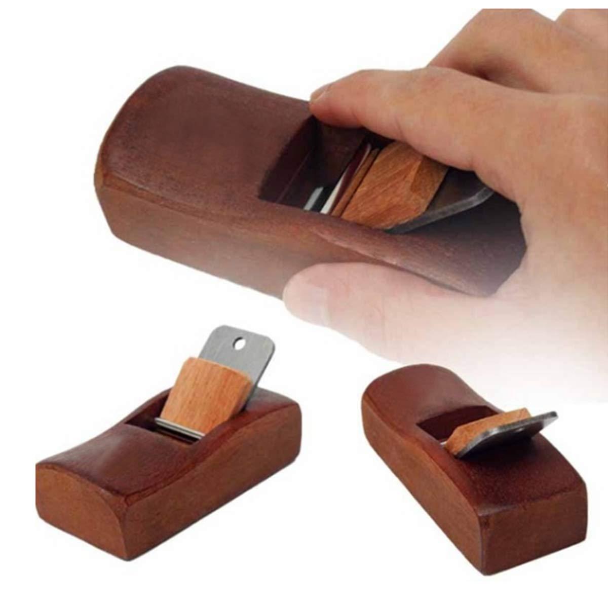 Donnagelia negro Mini bloque de madera para carpintero hoja afilada compacta y ajustable