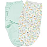Summer Infant SwaddleMe 2 Piece Adjustable Infant Wrap, Alphabet Soup, Large