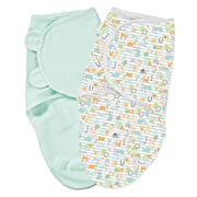 Summer Infant SwaddleMe 2 Piece Adjustable Infant Wrap, Alphabet Soup, Large