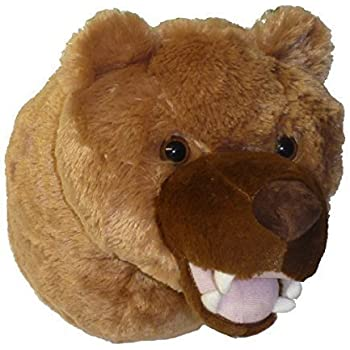 Amazon Com 7 5 Quot Black Bear Head Plush Stuffed Animal Toy