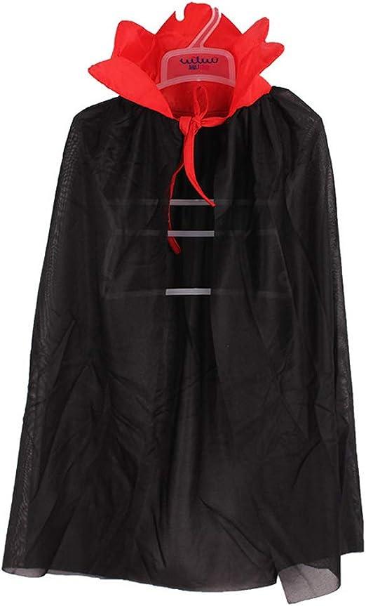 ZDDT Disfraz de Halloween Vampiro Hechicero Capa de Demonio ...