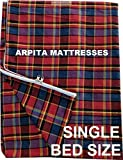 Shri krishan kripa handloom Cotton 72x36x4 Inches Mattress Cover - Single Bed, Multicolour