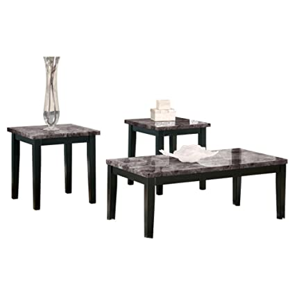Amazon.com: Ashley Furniture Signature Design   Maysville Faux Marble Top  Occasional Table Set   Contains Cocktail Table U0026 2 End Tables    Contemporary ...