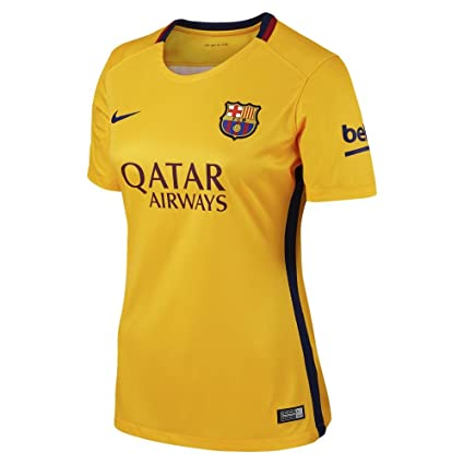 sneakers for cheap e6a54 b8805 NIKE Womens Barcelona Away Stadium Jersey [University Gold]