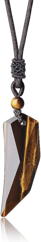 coai® Regalo ideas Sacapuntas colgante de piedras preciosas Amuleto Collar para Hombre y Mujer