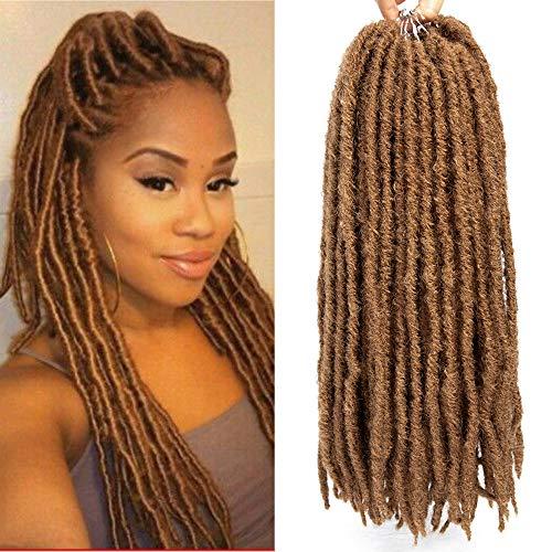 (14'' Goddess Locs Crochet Hair Braids Pre Looped Straight Faux locs Ombre Synthetic Hair Extensions Dreadlocks Kanekalon Braiding Hair (14