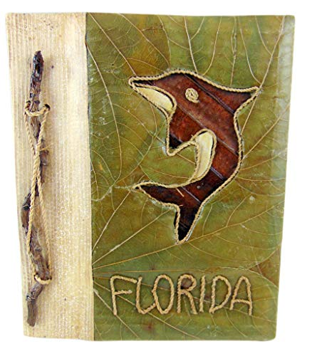 Westman Works Bamboo Tree Leaf Photo Album with Dolphin Florida Vacation Book