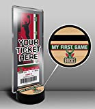 Milwaukee Bucks My First Game Ticket Display Stand