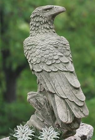 Steinfiguren Garten massiver adler 50cm vogel handgefertigt beton 22kg skulptur