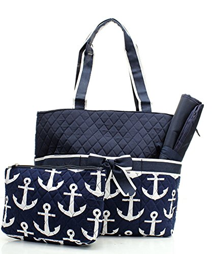 Quilted Nautical Anchor Monogrammable Changing product image