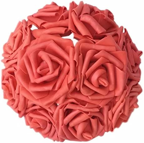 10Pcs Realistic Looking Artificial Flowers Rose Head For DIY Wedding Bouquets
