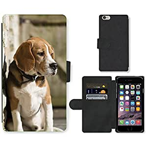"""Hot Style Cell Phone Card Slot PU Leather Wallet Case // M99999818 Dog Puppy Pattern // Apple iPhone 6 PLUS 5.5"""""""