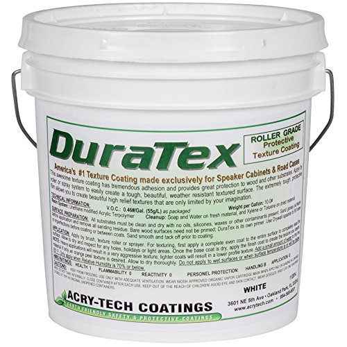 Acry-Tech DuraTex White 1 Gallon Roller Grade Speaker Cabinet Coating (Duratex Roller)