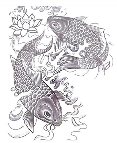 Large full back temporary tattoos dimension Length 12.6